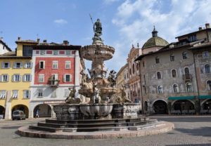 fountain of neptune in piazza duomo, Trento Italy