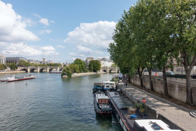 view of the left bank of the Seine in Paris