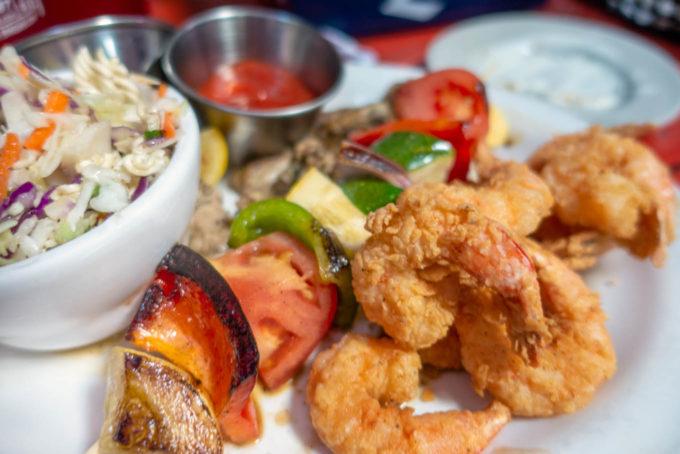 seafood at Gnat's landing