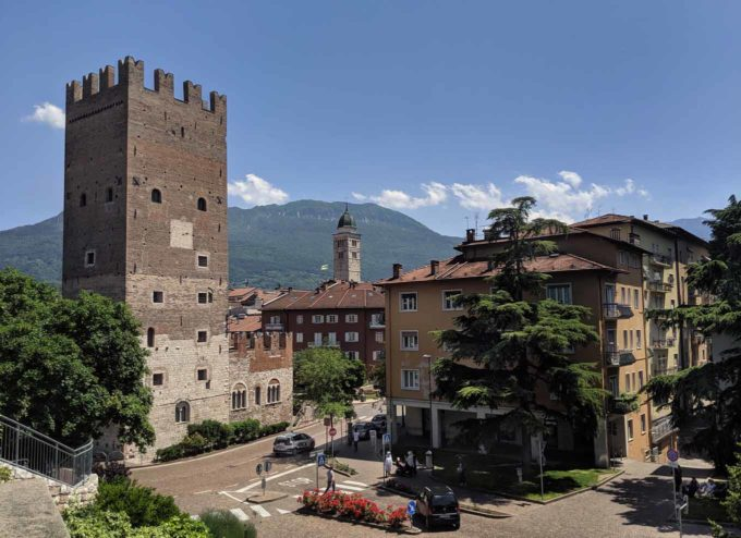 View of the Vanga tower in Trento Italy