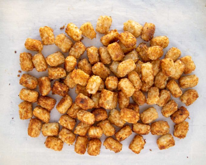 golden brown cooked tater tots