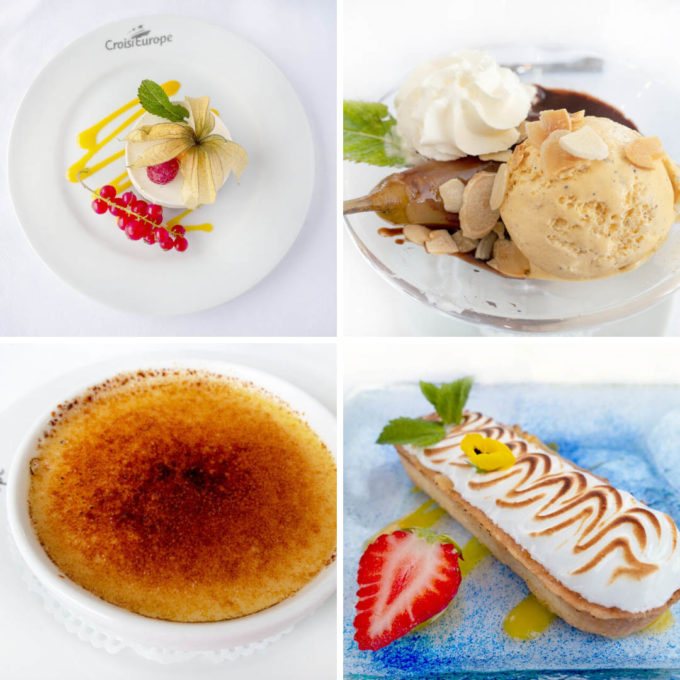 four desserts from our croisieurope cruise