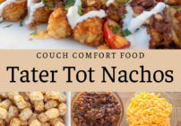 pinterest image for tater tot nachos