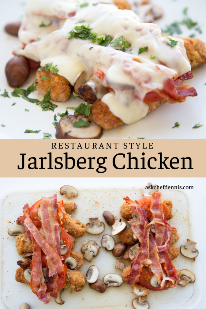 Pinterest image for Jarlsberg chicken
