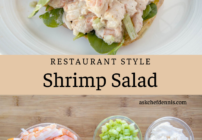 pinterest image for shrimp salad
