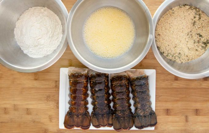 ingredients to make fried lobster tails