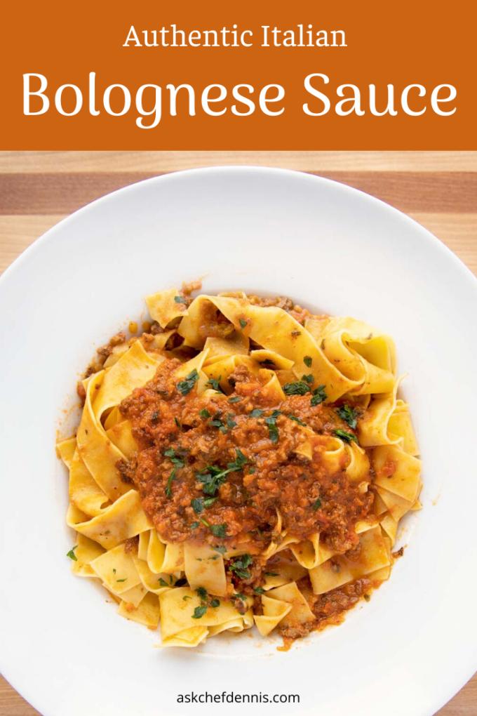 Pinterest image for Bolognese sauce