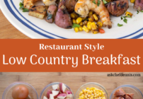 Pinterest image for low country breakfast