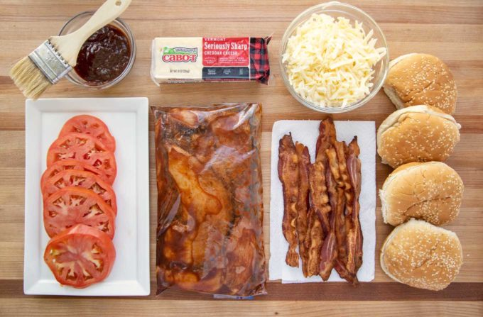 ingredients to make the ultimate grilled chicken sandwich