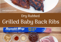 Pinterest image for Grilled Baby Back Ribs