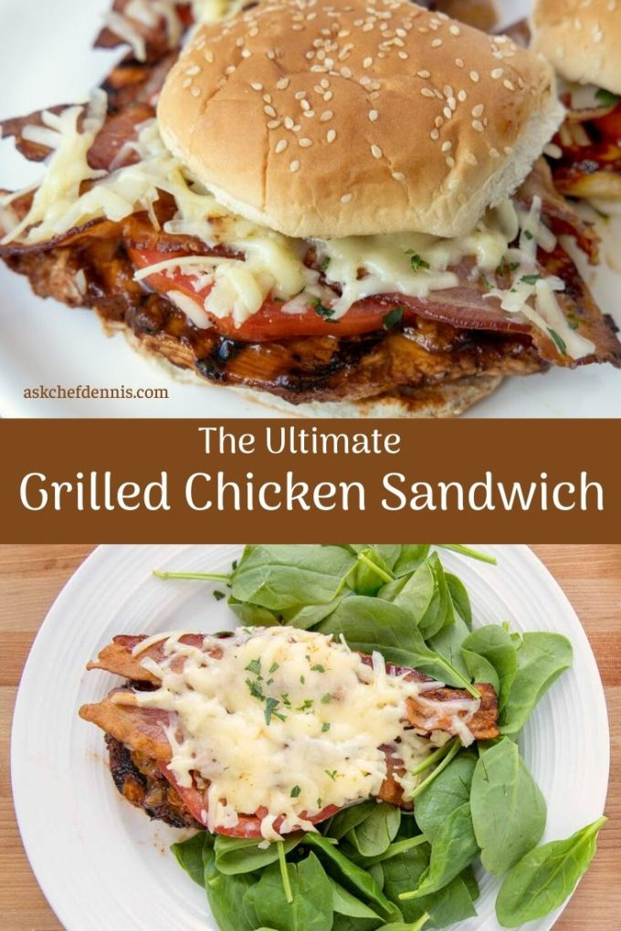 pinterest image for ultimate grilled chicken sandwich