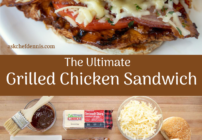 pinterest image for grilled chicken sandwich