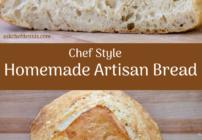 Pinterest image for Homemade Artisan Bread