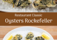 pinterest image for oysters rockefeller