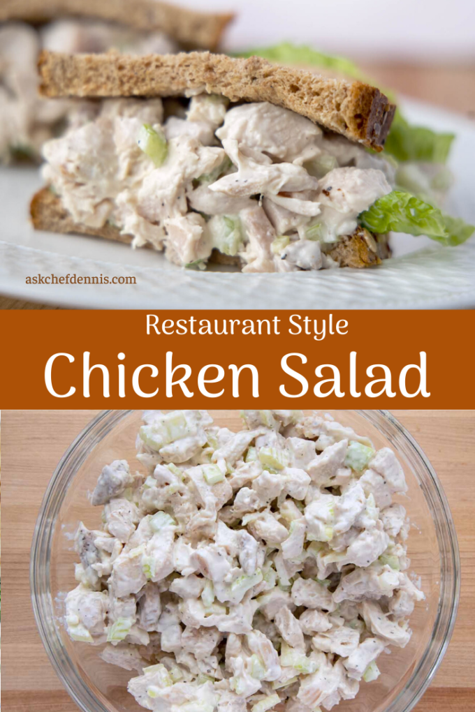 pinterest image for chicken salad