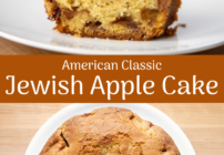 pinterest image for Jewish apple cake