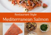 Pinterest image for Mediterranean Style Salmon