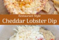 Pinterest image for cheddar lobster dip