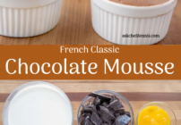 Pinterest image for Classical French Chocolate Mousse