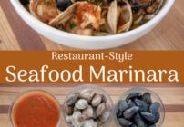 Pinterest image for Seafood Marinara