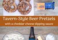 pinterest image for beer pretzels