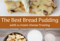 pinterest image for bread pudding