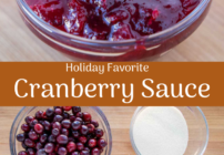 Pinterest image for cranberry sauce