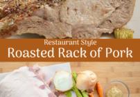 Pinterest image for rack of pork