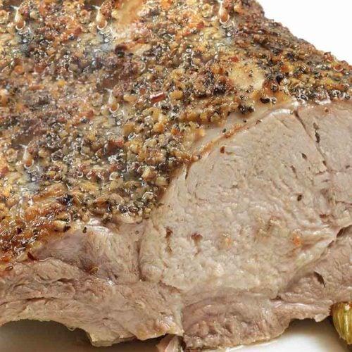 Bone In Oven Roasted Rack Of Pork Recipe Chef Dennis