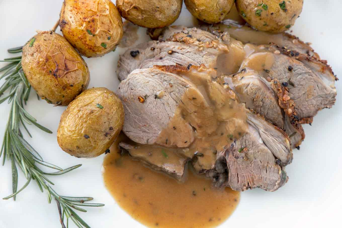 Oven Roasted Leg of Lamb and Potatoes | Chef Dennis