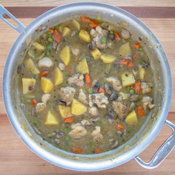 cooked stew in large pot