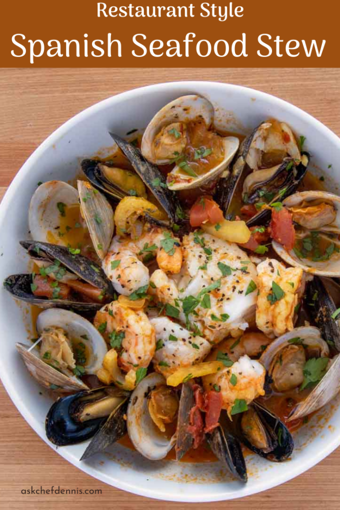 Pinterest image for seafood stew
