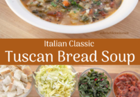 pinterest image for Tuscan Bread soup