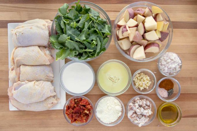 ingredients to make creamy tuscan chicken
