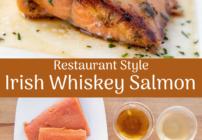 Pinterest image for Irish Whiskey salmon