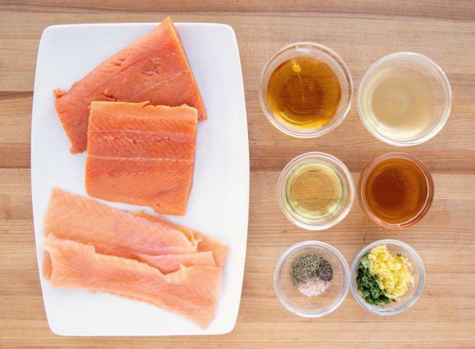ingredients to make Irish Whiskey Salmon