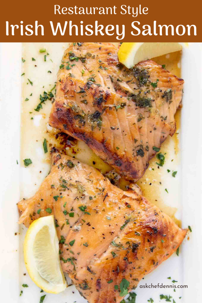 Pinterest image of Irish Whiskey Salmon