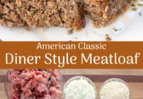 Pinterest Image for Diner Style Meatloaf