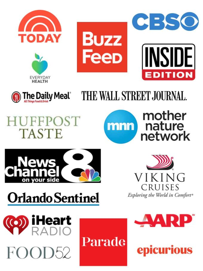 Collage of the different publications and Television shows Chef Dennis has been featured on