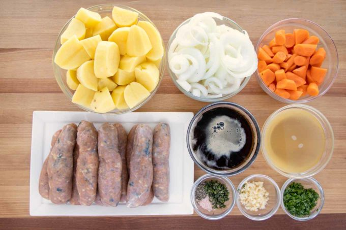 ingredients to make Dublin Coddle