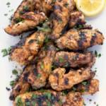 Grilled Dry Rub Lemon Pepper Chicken Wings