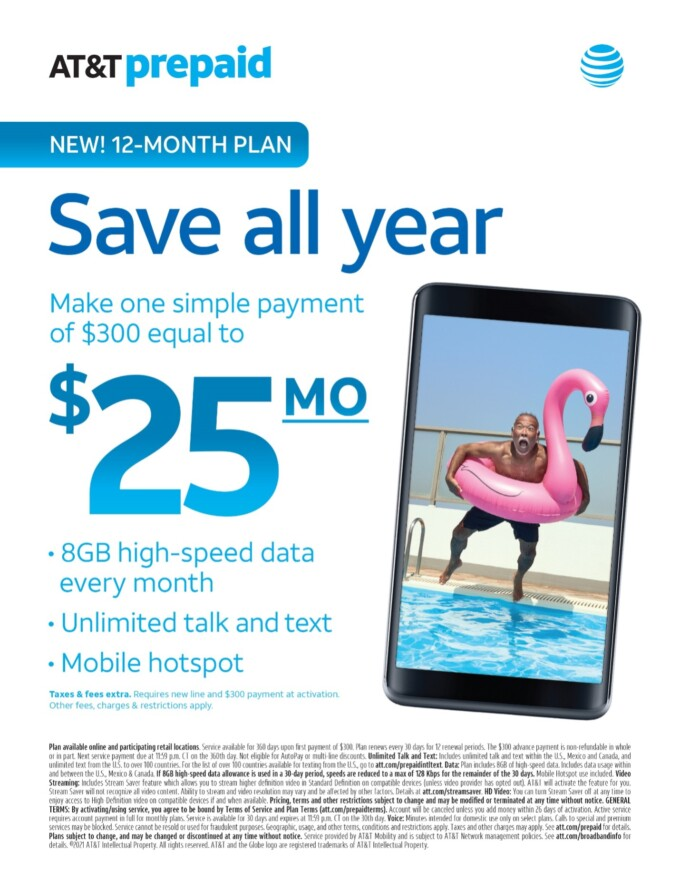 ad for AT&T prepaid