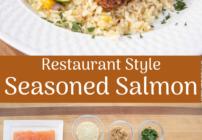 pinterest image for seasoned salmon