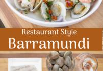 Pinterest image for pan seared barramundi