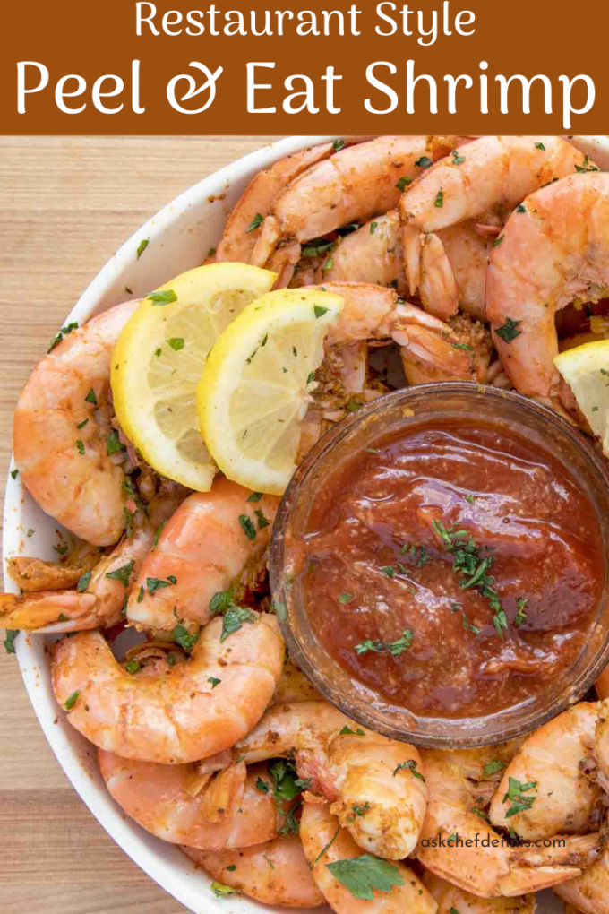 Pinterest image for peel and eat shrimp