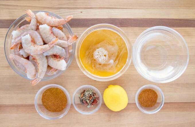 ingredients to make peel and eat shrimp