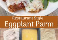 Pinterest image for eggplant parm