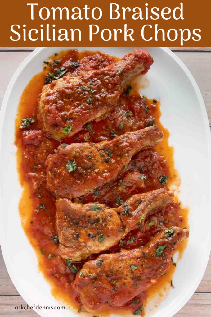 Pinterest image for Sicilian pork chops