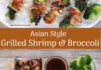 pinterest image for shrimp and broccoli