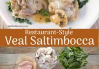 Pinterest image of veal saltimbocca